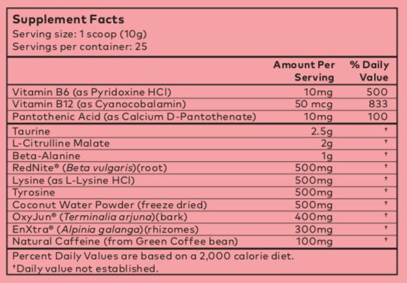 powher ingredients
