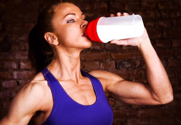 taking POWHER Pre-workout shake